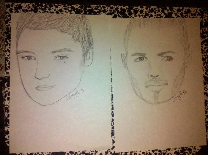 mes deux derniers portrait ( un peu raté mais ça va )