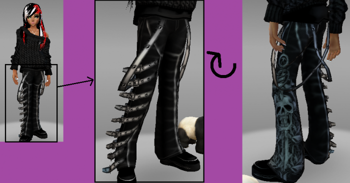 Zoé (moi) rp FT avec Chii-FT-NS pantalon à sangle (rp)