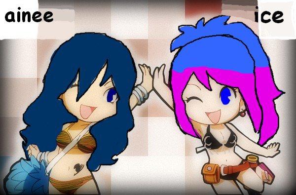 Ainée et Ice ( fairy tail)