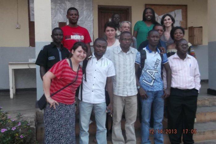 Avec les collègues des MSF à Bunia