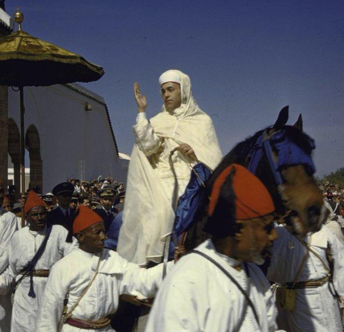 King Hassan II on his corronation in 1961