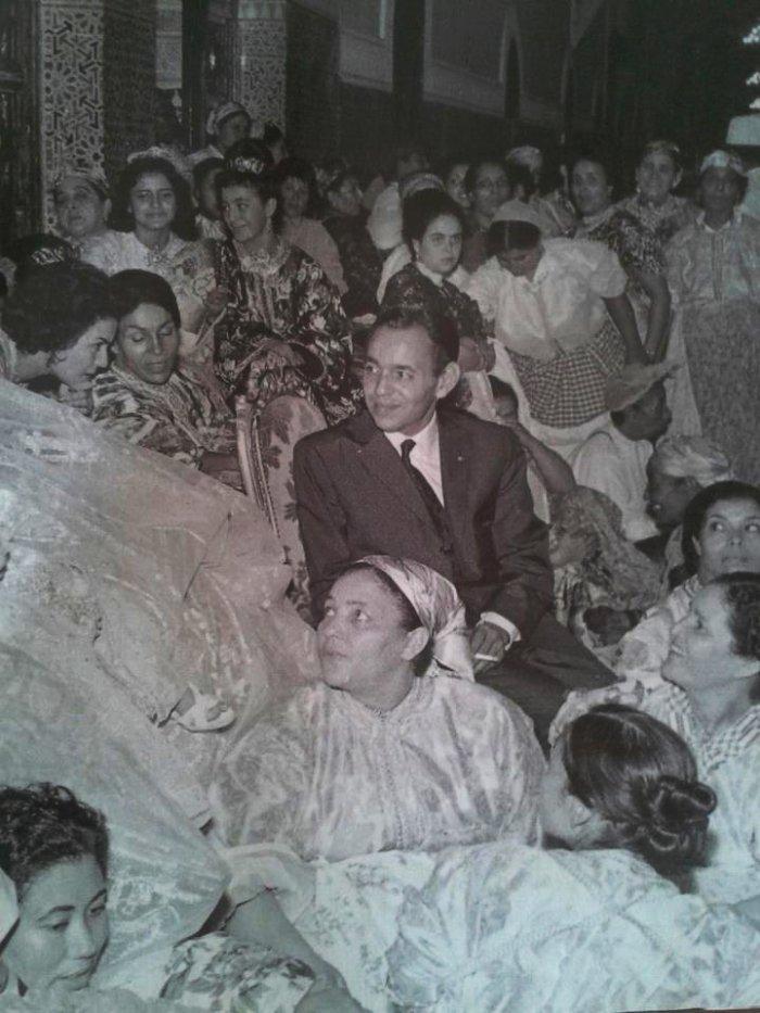 King Hassan II on his wedding day