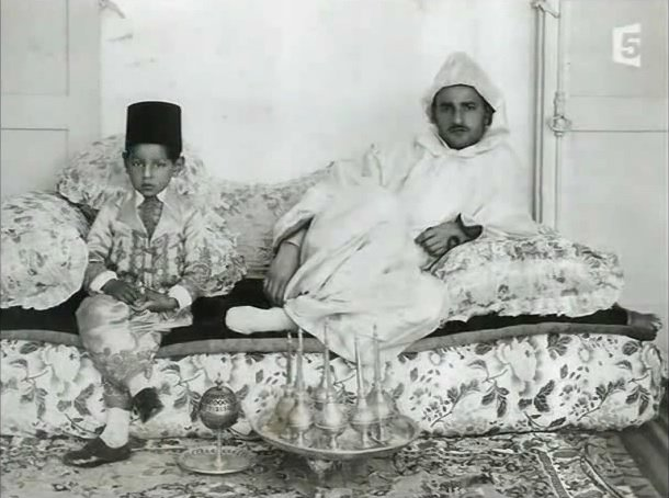 Sultan Sidi-Mohammed and his son, Moulay el-Hassan