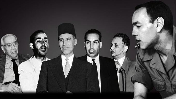 Hassan II, and the most famous moroccan oposition leaders