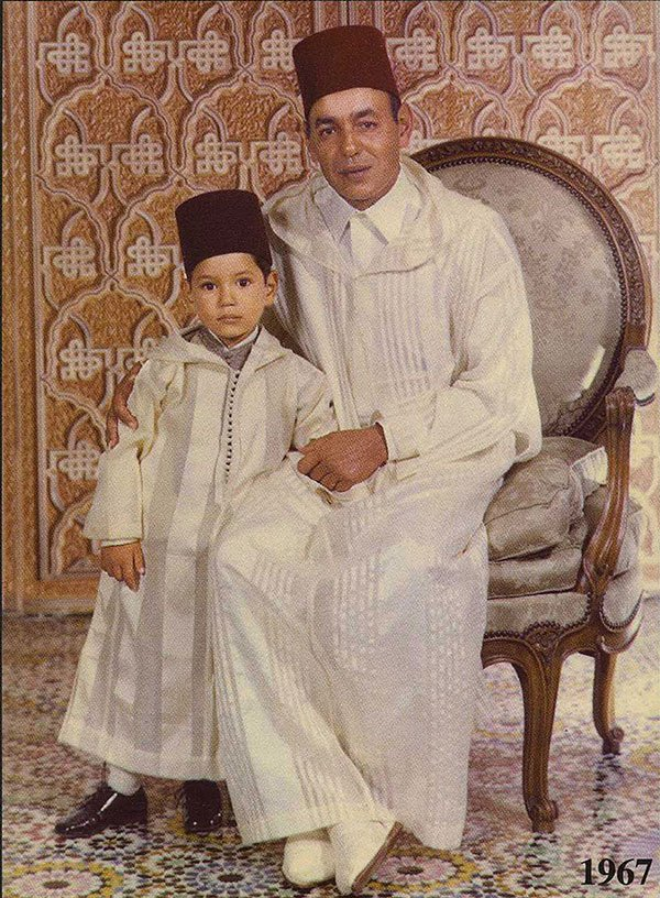 King Hassan II and crown prince Sidi-Mohammed