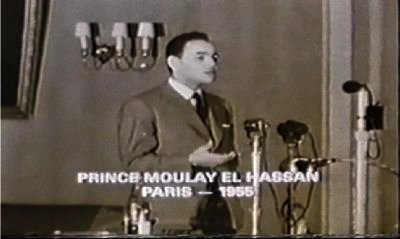 Giving a speach, a while after Morocco's independance