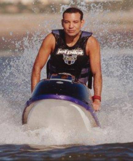 King Mohammed VI enjoying jet ski time