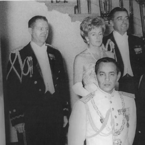 King Hassan II at the White House in 1963