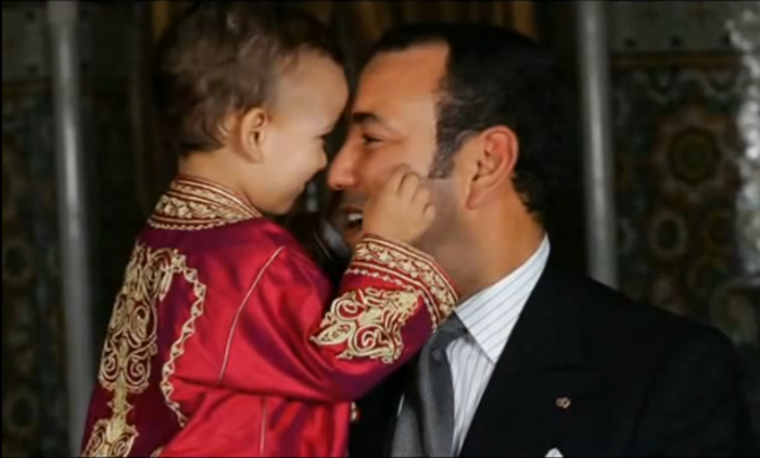 King Mohammed VI and his son Moulay el-Hassan.