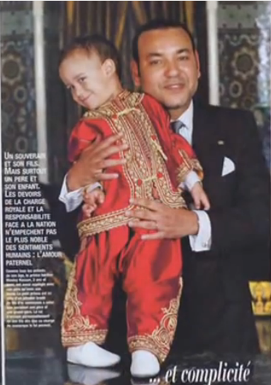 King Mohammed VI and his son Moulay el-Hassan