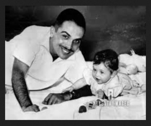 King Hussein with his first son, prince Abdullah