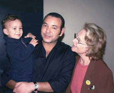 King Mohammed VI and his son