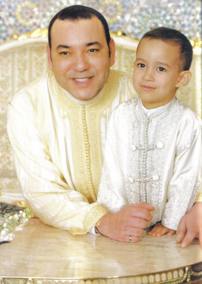 King Mohammed Vi and his son, crown prince Moulay el-Hassan