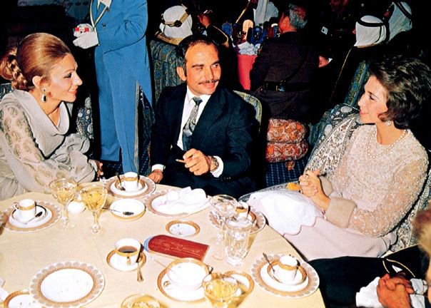 King Hussein, in Persepolis.