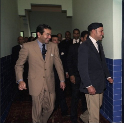 King Mohammed VI and his brother prince Moulay Rachid