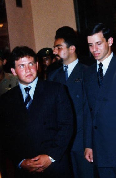 Young King Abdullah II and his brother prince Feisal