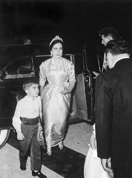 Queen Zein al-Talal and her son prince Hassan