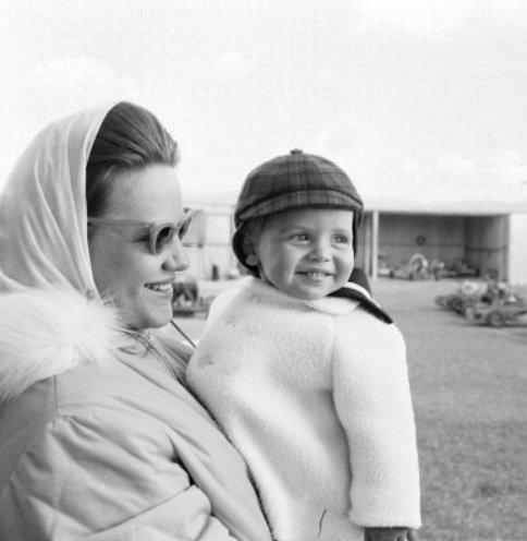 Princess Muna and baby king Abdullah II