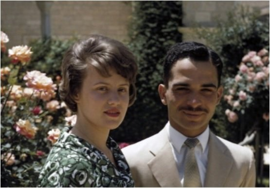 Princess Muna and king Hussein
