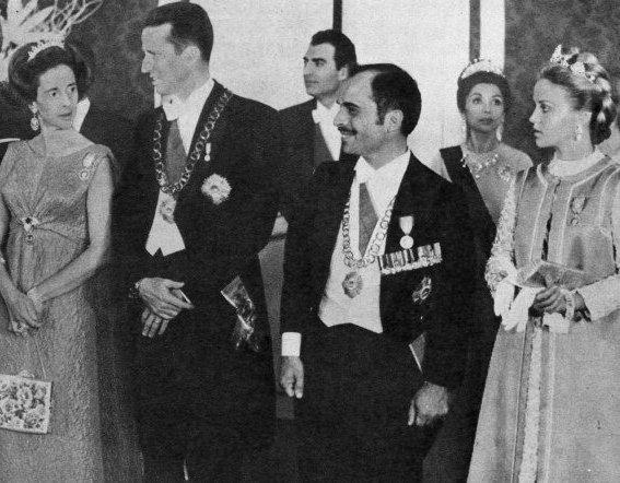 Princess Muna and king Hussein in Persepolis