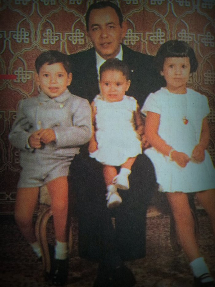 King Hassan II and his three first children