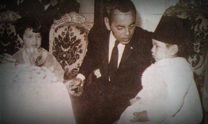 King Hassan II with his two elder children