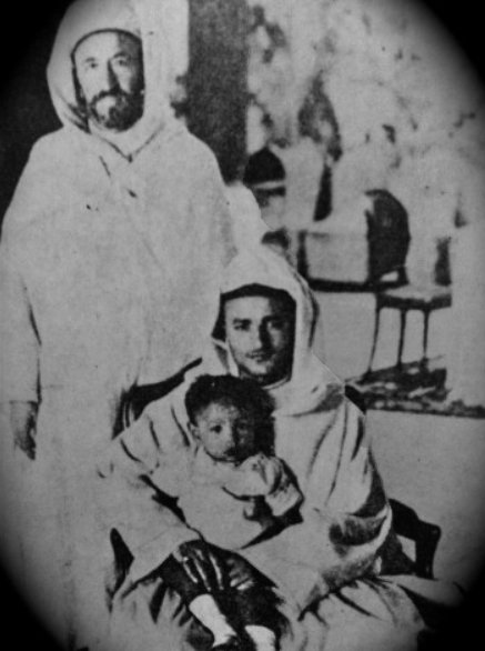 Sultan Sidi-Mohammed and his son Moulay el-Hassan