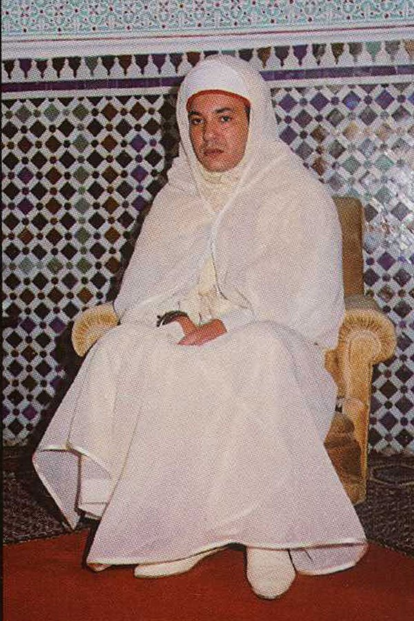 King Mohammed VI on the sacrement of his coronation day