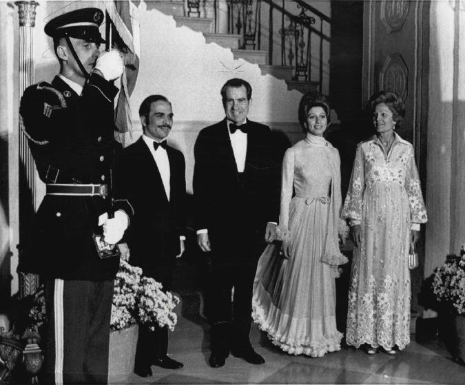 King Hussein and Queen Alia, attending a Gala Dinner in USA