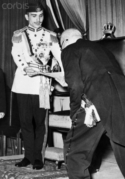 King Hussein and his prime ministre