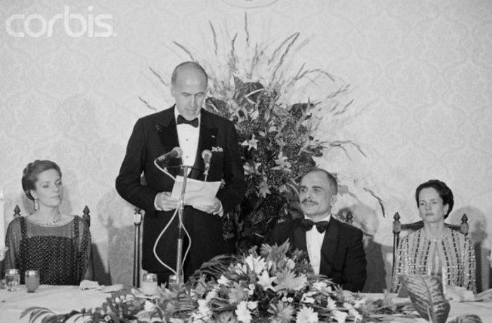 Queen Noor & King Hussein in Paris