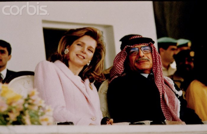 With King Hussein at the 40th annivesary of his throne