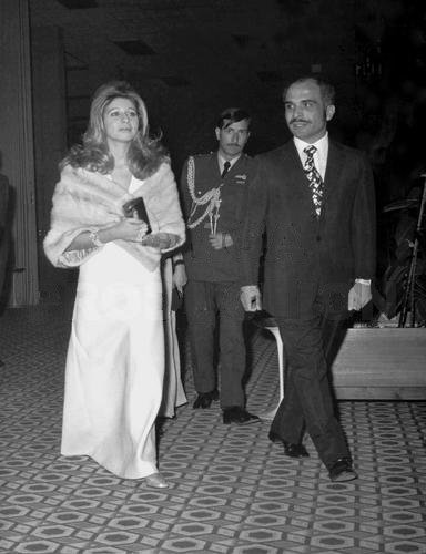 Queen Alia and king Hussein