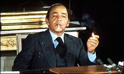 """King Hassan II in 1976. """"La classe"""""""