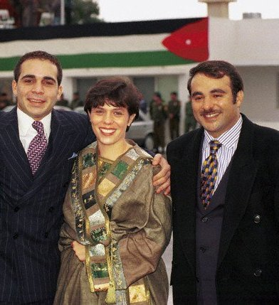 Princess Zein with her half-brother p. Ali and her husband