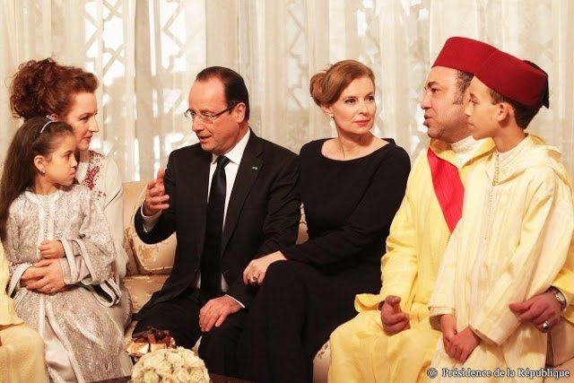King Mohammed VI with his wife, their children