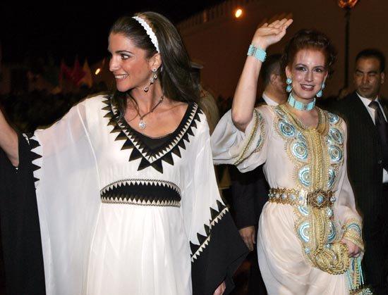 With queen Rania of Jordan