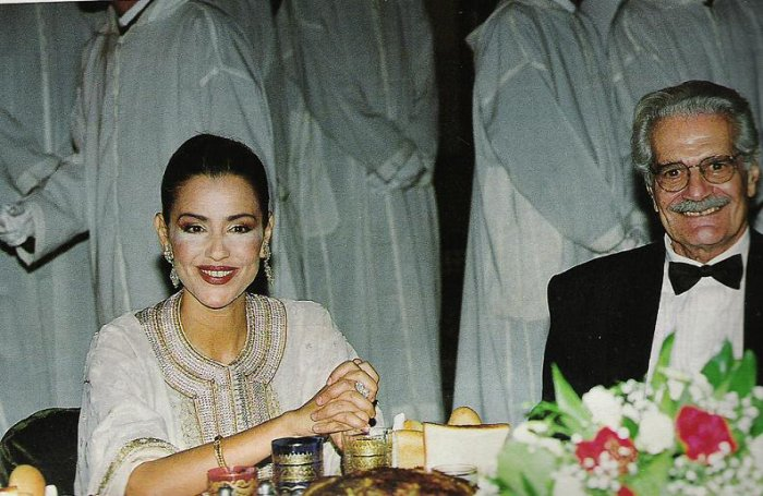 Princess Lalla Meryem, with the very famous Omar Chefir