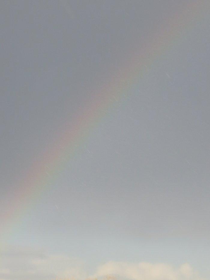 C un arc en ciel mais on ne le voi pas :/