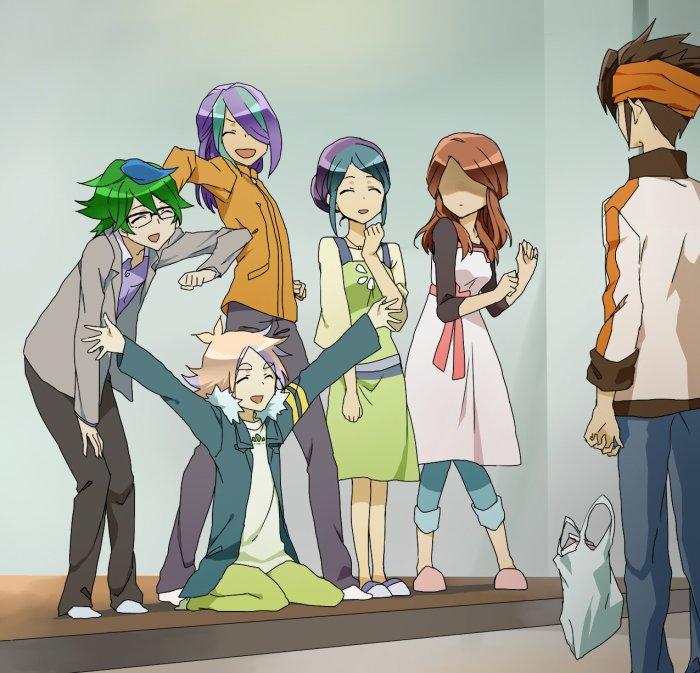 Justi, Seb', Anna' et Yugiri + Mamoru et Natsumi ~