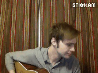 I just GIF'd thisismikefisher LIVE on Stickam! #gif #Stickam #thisismikefisher Comment: he's playing