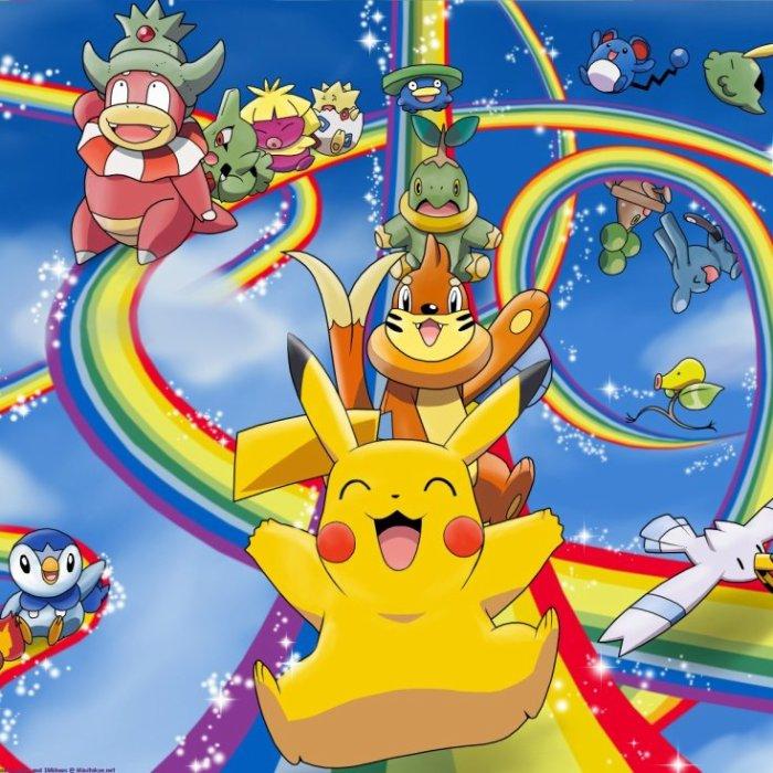 les pokémon dans un arc en ciel , vous avez déjà vu sa vous