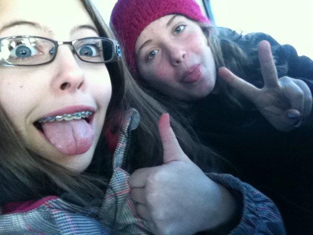 Moi et Lé dans l'autobus ^^