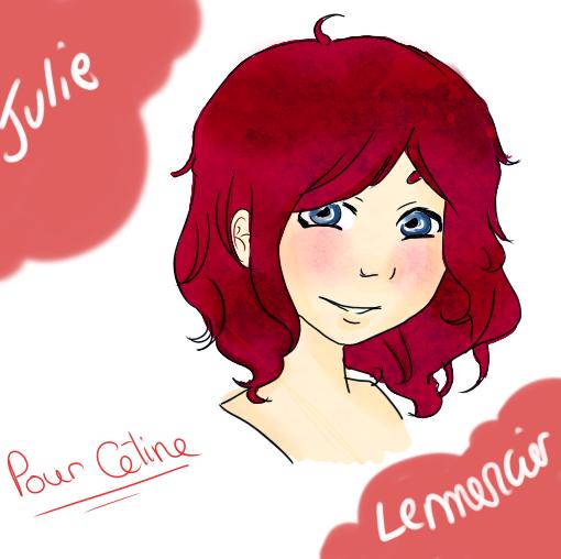 J'ai dessiné Julie sur ma tablette, un cadeau pour une amie.
