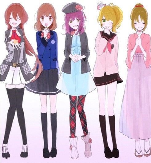 Elia, Verane, Salomé, Azuna, Natsumie