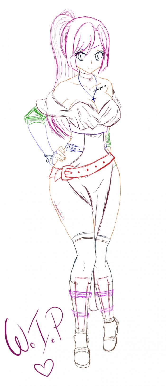 Marilyn (Kat) en tenue de combat... ;;
