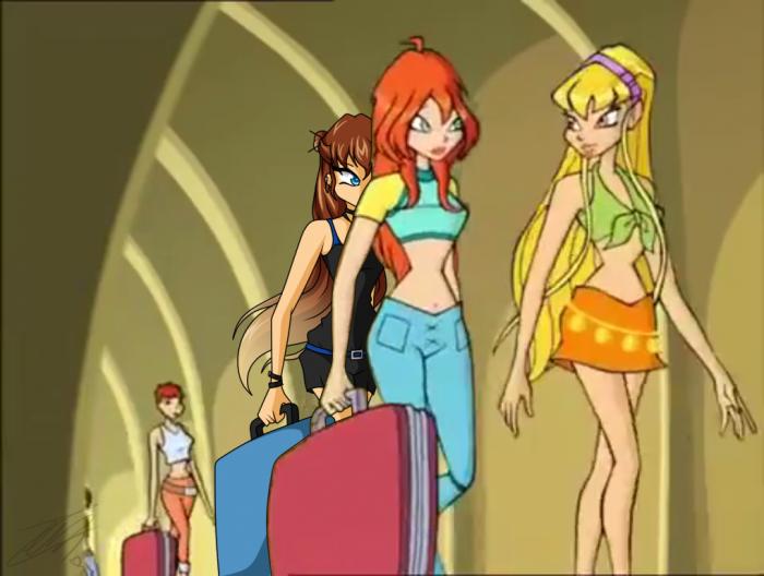 Kyla suit Bloom et Stella pour trouver leurs chambres x)
