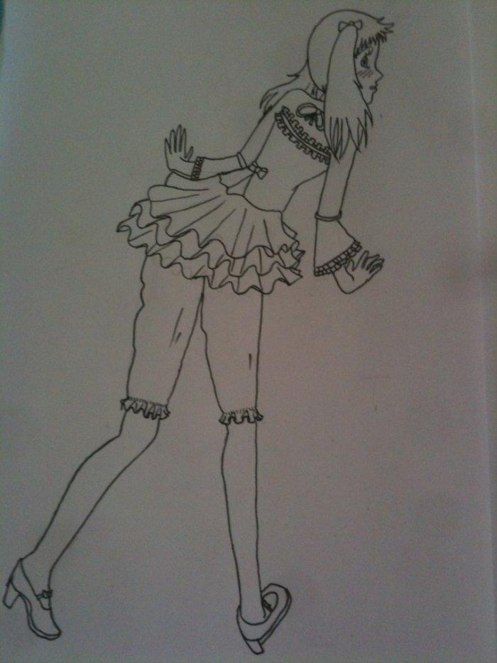 Fille lolita-gothique