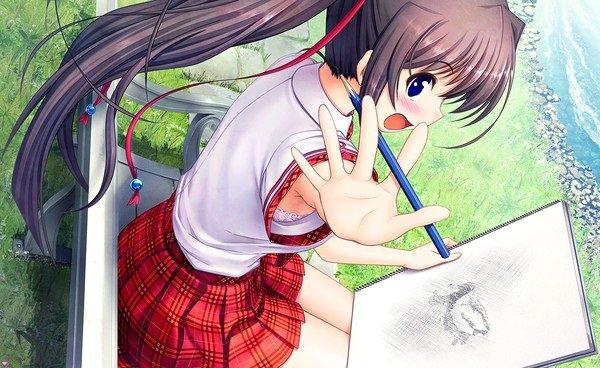 chiaki:non regarde pas mon dessin