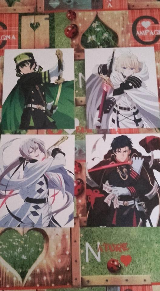 Cartons des personnages